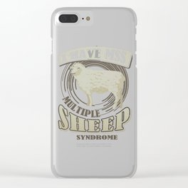 Sheep Lover I Have MSS Multiple Sheep Syndrome Clear iPhone Case