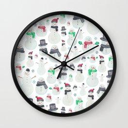 Watercolour snowmen! Wall Clock