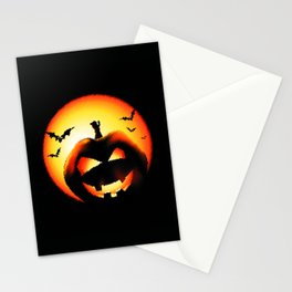 Smile Of Scary Pumpkin Stationery Cards