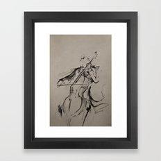 The Cellist (Sketch) Framed Art Print
