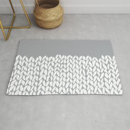 Half Knit Grey Rug