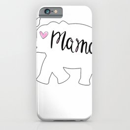 Mama Africa Elephant Mother T-Shirt Cute Gift for Mom iPhone Case