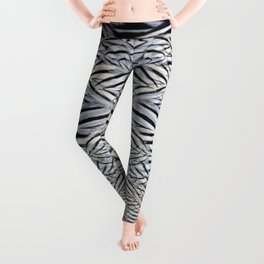 Silver Pheasant Feather Detail Leggings
