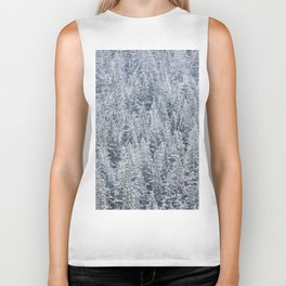 The Snow Frost Trees (Color) Biker Tank