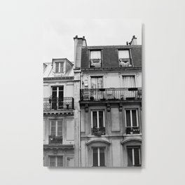 Windows in Paris Metal Print