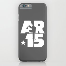 AR-15 (Gunmetal/White) iPhone Case