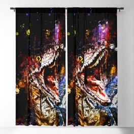 velociraptor dinosaur close up wsstd Blackout Curtain