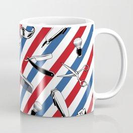Barber Shop Pattern Kaffeebecher