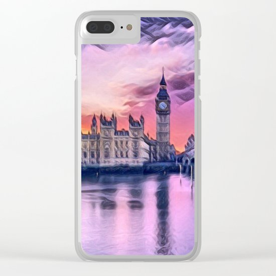 Big Ben with Sunset (London, England) Clear iPhone Case