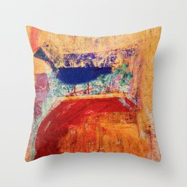 Uccello Azzurro Throw Pillow