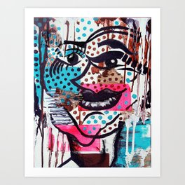 The Dynamic Expressions of Lucy  Art Print