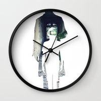 noir Wall Clocks featuring Noir. by el Jeh