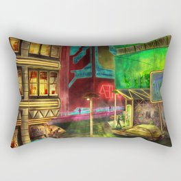 Night on the Town Rectangular Pillow