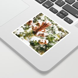 Snowy winter Sticker