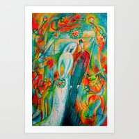 Jewish Wedding Art Print