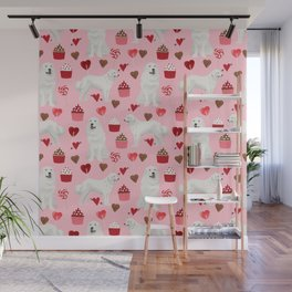 Great Pyrenees dog breed valentines day gifts for dog lover unique dog breeds valentine Wall Mural