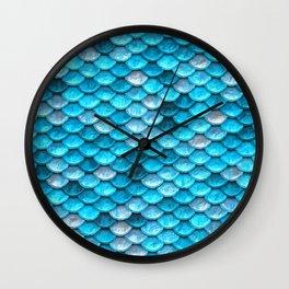 Blue Mermaid Wall Clock