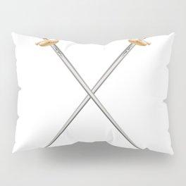 Crossed Infantry Swords Pillow Sham