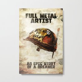 Full metal artist Metal Print
