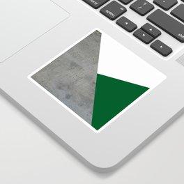 Concrete Festive Green White Sticker