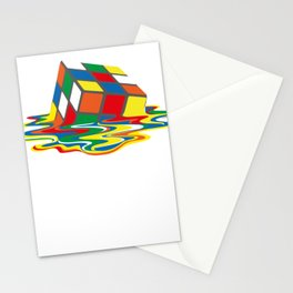 Rubik's Cube Melting Rubik's Cube Stationery Cards
