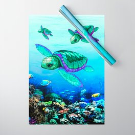Sea Turtles Dance Wrapping Paper