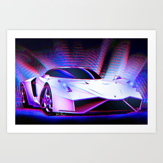 E Wolf Supercar Art Print