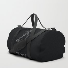 New Jersey State Road Map Duffle Bag