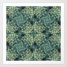 Green Herb Garden, Dill Flowers Art Print