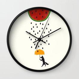 Raining Watermelon Wall Clock