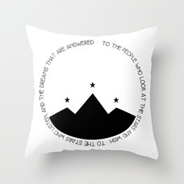 to the people who look at the stars and wish Throw Pillow