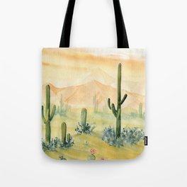 Desert Sunset Landscape Tote Bag