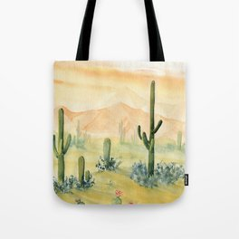Desert Sunset Landscape Tote Bag