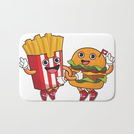 Burger Fries Bath Mat