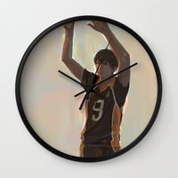 haikyuu Wall Clocks featuring Kageyama Tobio by lmarin