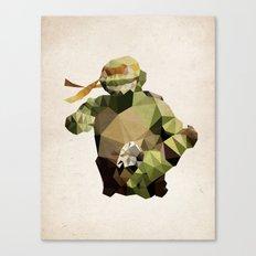Polygon Heroes - Michelangelo Canvas Print