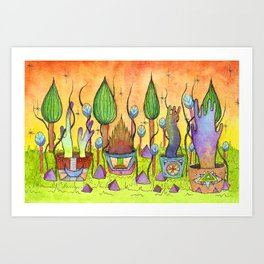 Dream Garden 1 Art Print