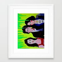 heathers Framed Art Prints featuring Heathers by MICHELLE GUINTU