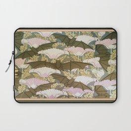 Vintage ART Nouveau Bat Floral Pattern Laptop Sleeve