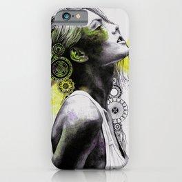 Burnt By The Sun   street art woman portrait with mandalas) iPhone Case