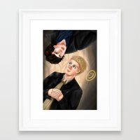 johnlock Framed Art Prints featuring Johnlock by Vii Victory