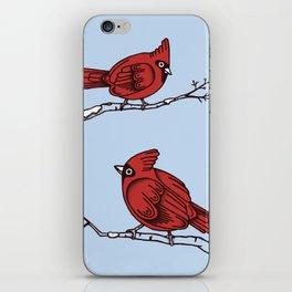 Winter Cardinals  iPhone Skin