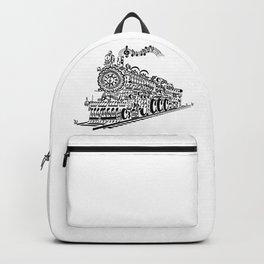 Musical Train (Steam Train) Silhouette Art Backpack