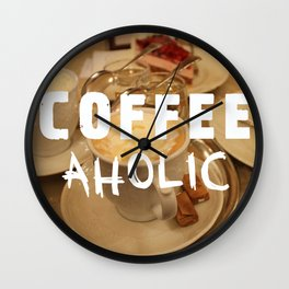 COFFEEaholic Wall Clock