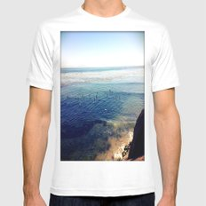 the hook MEDIUM White Mens Fitted Tee