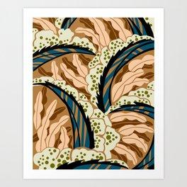 BALINESIA: BIG SKY RANCH, Art Deco Tropical Art Print