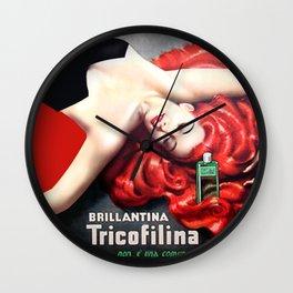 Vintage Brillantina Tricofilina Wall Clock