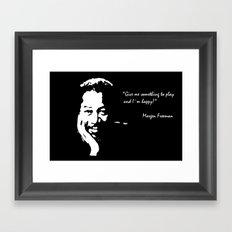 Morgen Freeman Framed Art Print