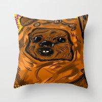 ewok Throw Pillows featuring Ewok by Art of Fernie