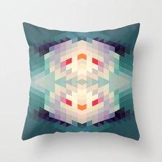 GeoAqua Throw Pillow